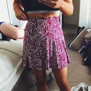 Pink High Waist Detailed Skirt